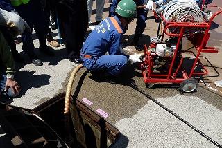 H26/6/15 渋谷区合同消火訓練に参加しました6