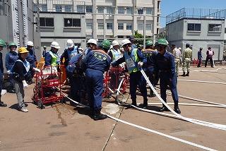 H26/6/15 渋谷区合同消火訓練に参加しました8