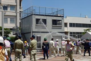 H26/6/15 渋谷区合同消火訓練に参加しました10