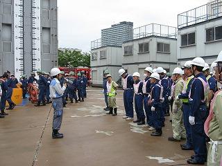 H27/6/21 渋谷区合同消火訓練に参加しました1