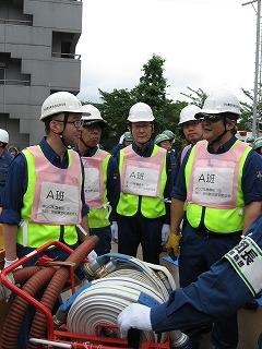 H27/6/21 渋谷区合同消火訓練に参加しました4