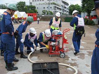 H27/6/21 渋谷区合同消火訓練に参加しました5