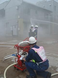 H27/6/21 渋谷区合同消火訓練に参加しました6