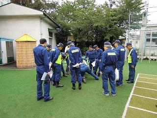 H25 10/6 「避難所訓練」を実施しました 1
