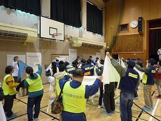 H30/11/18 氷川地区合同防災訓練に参加しました2
