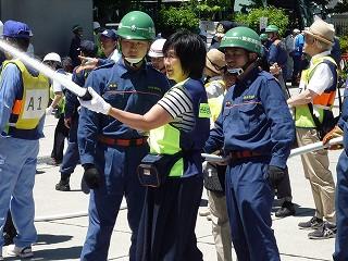 自主防災組織合同消火訓練2