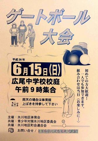 6月15日(日)ゲートボール大会